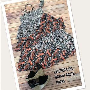 Lane Bryant Layered Guaze Dress